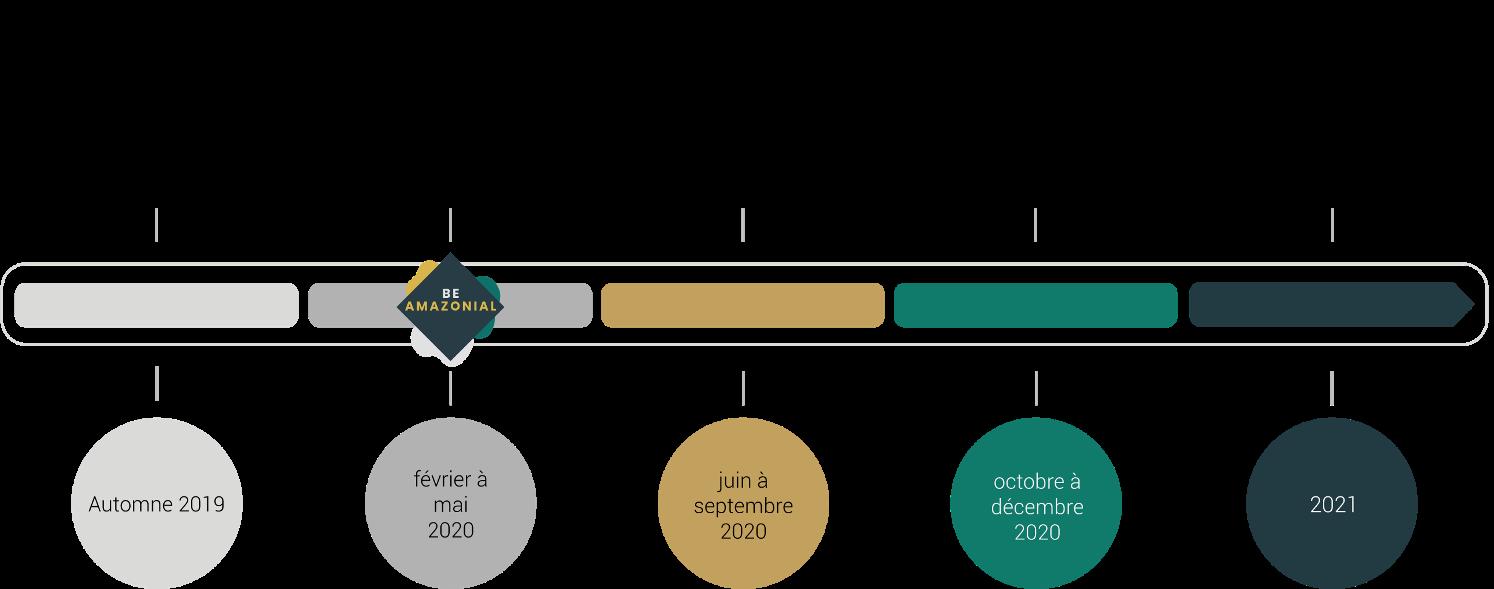 Timeline be amazonial 2020 2021